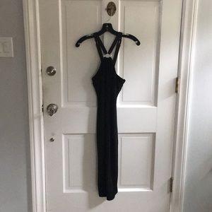ralph lauren black cocktail dress w/ leather belt